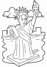 Liberty Statue Coloring Pages Template Drawing Niagara Falls Clipart Stunning Easy Cliparts Printable Print Getdrawings Getcolorings Library sketch template