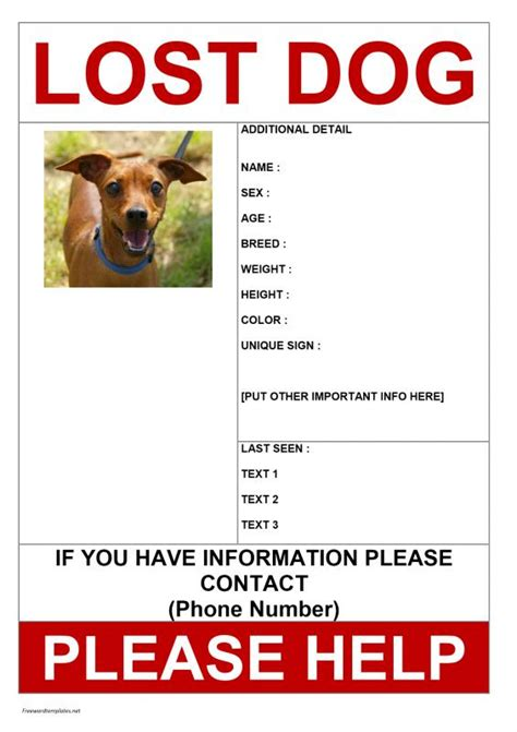 Missing Poster Template Missing Poster Template Template Business