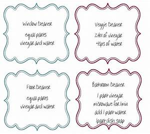 recipes labels for your homemade cleaning products With how to print product labels at home