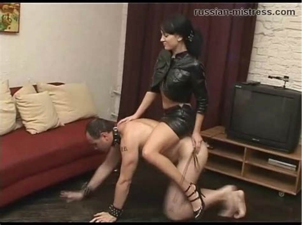 #Mistress #In #Leather #Skirt #Rides #Him #Like #A #Pony