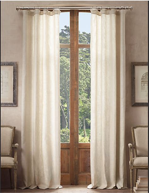 restoration hardware opaque belgian linen drapery decor