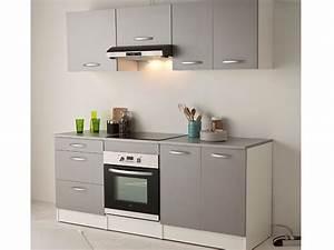 Éléments De Cuisine Pas Cher : cuisine spoon color coloris gris vente de les cuisines ~ Melissatoandfro.com Idées de Décoration