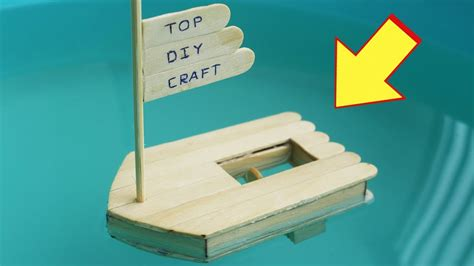 How To Make A Boat Diy by How To Make A Boat With Popsicle Sticks And Rubber Band