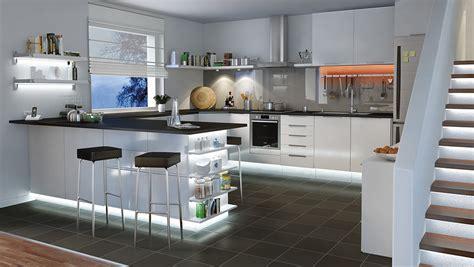 eclairage meuble de cuisine nos 5 idées déco avec le ruban led achatdesign
