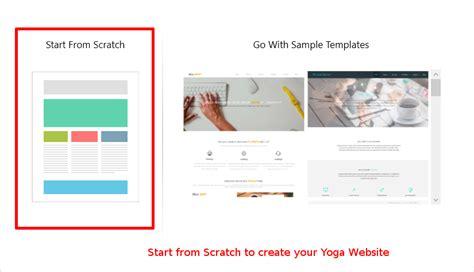 design  yoga website step  step tutorial
