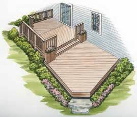 Simple Two Level Decks Ideas Photo by Two Level Deck On Deck Plans Two Story Deck