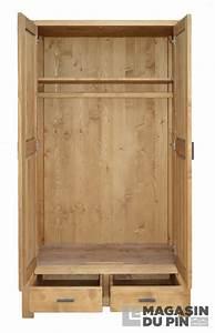 Armoire En Pin Massif : armoire en pin massif adriana 2 portes le magasin du pin ~ Teatrodelosmanantiales.com Idées de Décoration