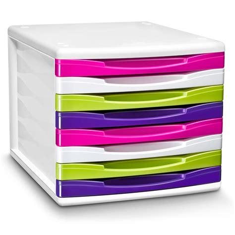 bloc de classement bureau cep bloc de classement 8 tiroirs gloss multicolore