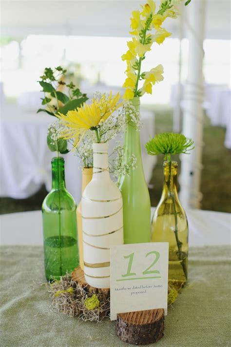 deco de table original centre de table original d 233 co sp 233 ciale avec des bouteilles