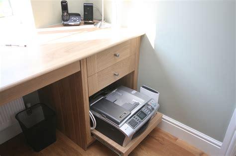 desk with printer drawer printer drawer in oak office enlargement 2 of 3 6689