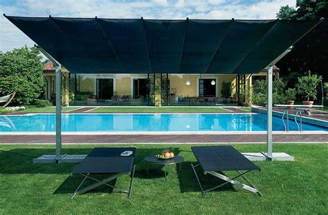Offset Rectangular Outdoor Umbrellas by Fim Flexy Aluminum 10 X 14 Rectangular Offset Umbrella
