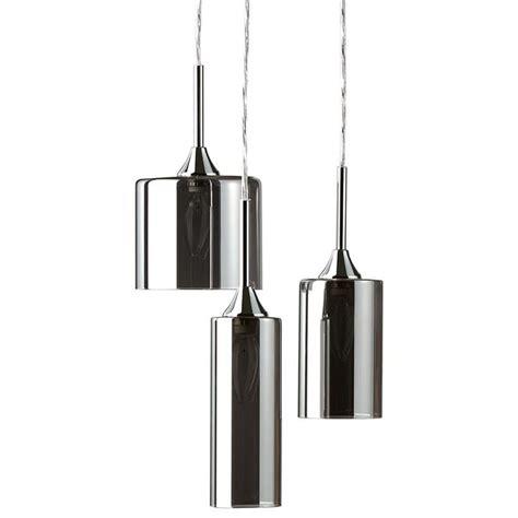 luminaire suspendu design cuisine le suspendue à 3 abat jours en verre les suspendues