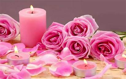Petals Candle Roses Flowers Wallpapers13