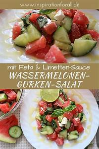 Honig Senf Sauce Salat : wassermelonen gurken salat mit feta honig limetten sauce ~ Watch28wear.com Haus und Dekorationen