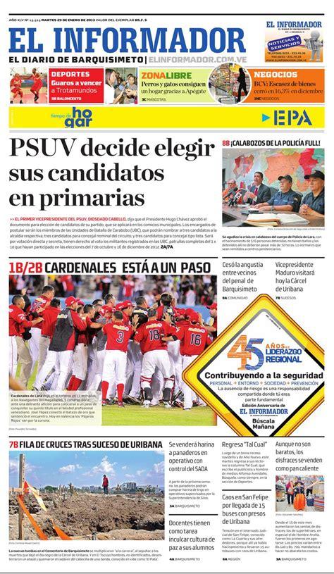 1 +de una noticia informant. El Informador2013.01.29 by El Informador - Diario online Venezolano - Issuu