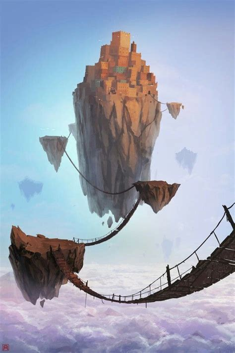 Floating Island Concept Art Landscape
