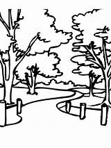 Pages Park Coloring sketch template