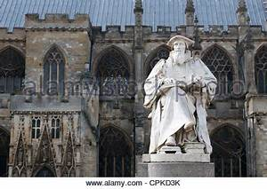 Statue outside Exeter Cathedral Stock Photo, Royalty Free ...