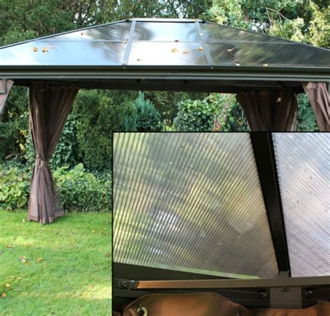replacement roof panels for four seasons polycarbonate gazebo gazebo covers