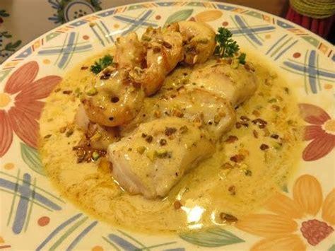 cuisiner dos de cabillaud recette de dos de cabillaud sauce crevette pistache m 232 re mitraille