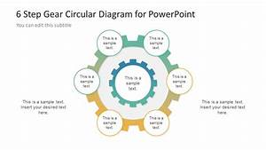6 Step Gear Diagram Design For Powerpoint