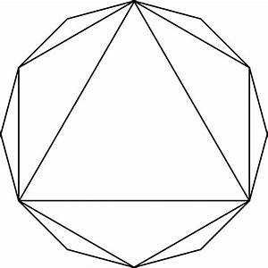 Hexagon And Triangle Inscribed In A Dodecagon