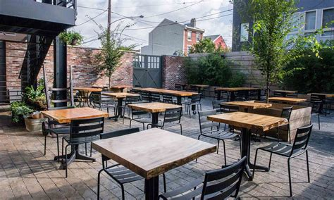 Depending on the weather, outdoor seating can be found at restaurants like spring garden diner, and iron hen cafe & catering in greensboro. Front Street Cafe's garden patio offering outdoor dining and workspace. Located in Philadelphia ...
