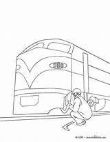 Train Electric Coloring Mechanic Repairing Pages Hellokids sketch template