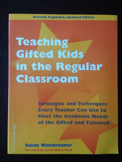 Challenging Gifted Students In The Regular Clroom  Ee  Gift Ee