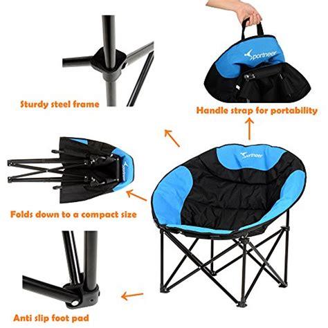 Folding Outdoor Saucer Chair by Sportneer Moon Saucer Lightweight Folding Cing Chair
