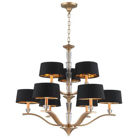 gold and black chandelier worldwide lighting gatsby 9 light matte gold chandelier
