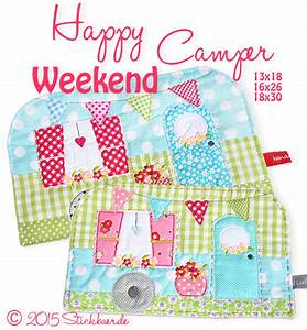 Happy Weekend De : der stickbaer happy weekend camper mugrug embroidery from heart ~ Eleganceandgraceweddings.com Haus und Dekorationen