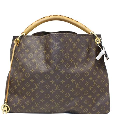 louis vuitton artsy hobo gm monogram brown canvas shoulder bag tradesy