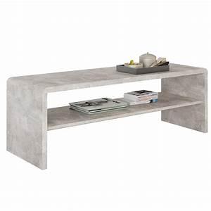Table Basse En Beton : table basse meuble tv noelle en m lamin d cor b ton mobil meubles ~ Farleysfitness.com Idées de Décoration