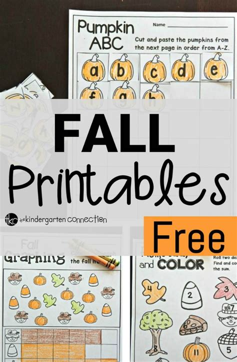 Free Fall Printables  The Kindergarten Connection