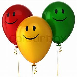 Happy balloons birthday party decoration Detailed 3d