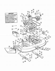 Troy Bilt Mower Deck Diagram