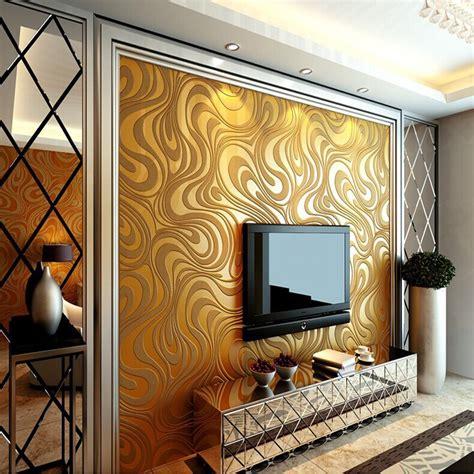 qihang  abstract curve modern luxury flocking striped