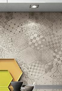le carrelage hexagonal une tendance qui fait son grand With carreaux de ciment hexagonaux