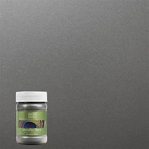 modern masters 6 oz pewter metallic interior exterior With home depot metallic furniture paint