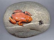 Frogs Painted On Rocks
