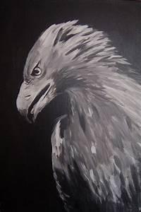 Schwarz Weiß Bilder Tiere : adler schwarz wei tiere adler malerei von julia bei kunstnet ~ Markanthonyermac.com Haus und Dekorationen
