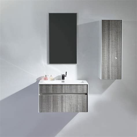Bathroom Mirror Units by Lusso Mirage Grey Designer Wall Mounted Bathroom