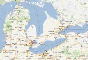 City of Detroit Michigan Map