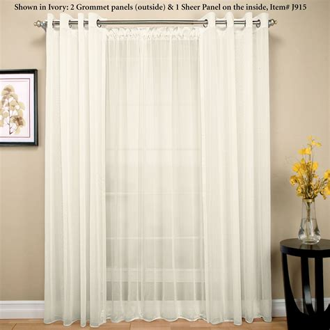 Sheer Curtains With Grommets by Tergaline Sheer Grommet Curtain Panel