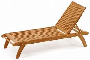 Chaise longue bois transat jardin promo Sortir en allier