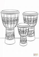 Djembe Drums Coloring Instruments Sheet Coloriage Trommeln Colorare Colorear Zum Printable Dibujos Dessin Bongos Dibujo Ausmalbild Ausmalbilder Disegni Musical Tamburo sketch template