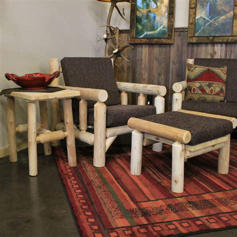 furniture gt living room furniture gt chair gt rustic log