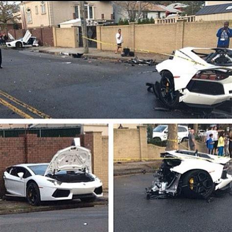 crashed white lamborghini crash d 39 une lamborghini aventador video 2tout2rien