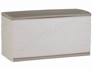 Coffre De Rangement Blanc : coffre de rangement plastiken 97120 beige et blanc 390 litres pas cher ~ Nature-et-papiers.com Idées de Décoration